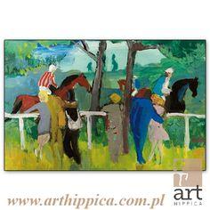 Horse - Painting - Holler Josef | NA PADOKU | A painting by Josef Holler. Signature: Josef Holler; Technique: watercolor; Dimensions: 58 x 37 cm; Exhibitions: Czech Parliament, Millennium gallery – Prague.