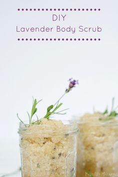 DIY Lavender Body Scrub by Pastels & Macarons. Makes a beautiful ...