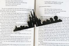 Disney Castle Hand-cut Silhouette Bookmark by GracefulDiligence