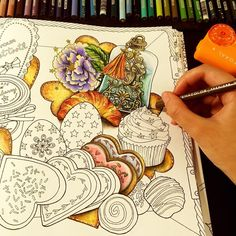 WIP- All about sweets. Cookies chocolates and cupcakes #thetimechamber by #dariasong   #coloriage #colouringbook #coloring #coloringbooks #colouringforadults #colouringforgrownups #colouringpencils #coloringbookforadults #adultcoloring #adultcolouring #adultcoloringbook #prismacolor #coloredpencil #shirleytutopia #coloringbook #coloringtherapy #coloringpencils #sweets #thetimegarden