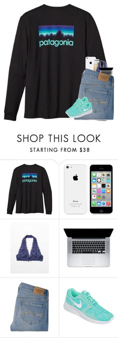 """""""swim practice was rough tonight :/"""" by ellerlou ❤ liked on Polyvore featuring Patagonia, Free People, Abercrombie & Fitch and NIKE"""