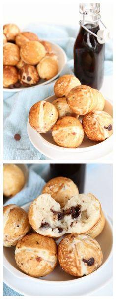 Breakfast Ideas| Chocolate Chip Pancake Poppers Recipe| www.theidearoom.net