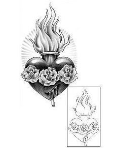Sacred Heart tattoo by @swan_tattooer at Tattoo Factory in