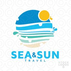 Exclusive Customizable Logo For Sale: Sea & Sun Travel | StockLogos.com