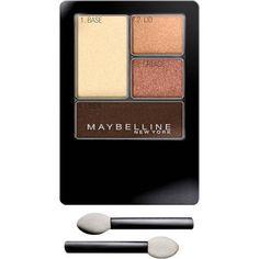 Maybelline Expert Wear Eyeshadow Quads, Sunlit Bronze, 0.17 oz