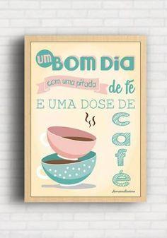 Poster Decorativo para Cozinha - Um Bom Dia - Arrumadíssimo TO8384
