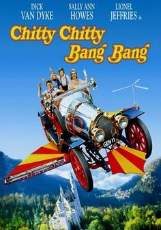 Chitty Chitty Bang Bang (1968) Dick Van Dyke stars as quirky inventor Caractacus Potts, whose magical flying car transports his family and lovely lady friend to Vulgaria -- a kingdom strangely devoid of children, ruled by the evil Baron Bomburst.
