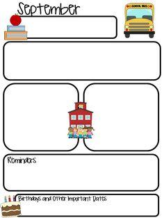 Newsletter Templates For Teachers | Free Editable Newsletter Template Parent Newsletters Template