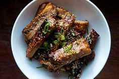 Super tender, killer bomb flavor, in-a-pinch, fantastic recipe...pull carmelized leftovers off the bones to serve over rice with sesame and green onions