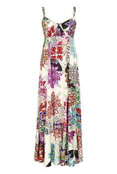 Handkerchief Print Maxi Dress for the tall ladies like myself!