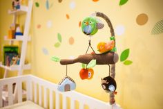 This is a whole nursery! I LOVE this. I have def. fallen in love with this theme.   Skip Hop Treetop Friends Mobile
