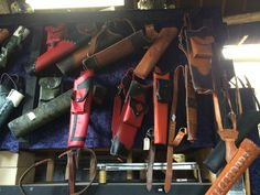 my quivers (with others) at Wales Archery Specialists, Crick, Monmouthshire, Wales.