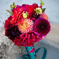 Wow! Bouquet of pink dahlias...love this flower!