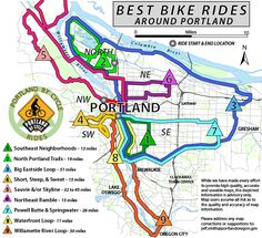 Great guides to check out when you rent from us! Best Rides around Portland | Recreational Bicycling Rides + Maps | The City of Portland, Oregon http://www.portlandbicycletours.com/