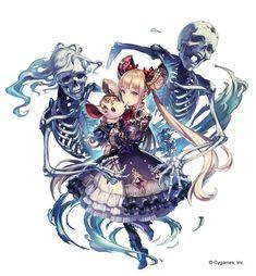"""""""告知遅くなりましたが、Shadowverseにてネクロマンサーのルナ(CV.小倉唯さん)を描かせていただきました! どうぞよろしくお願い致します~。"""""""