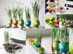 DIY Easter Egg Planters