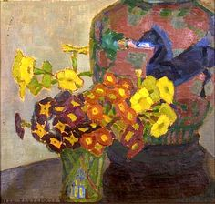 ELLEN TROTZIG (1878-1949), Still Life with Urn and Flowers in a Vase