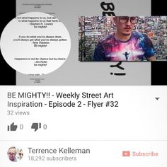 Get the thoughts behind the thoughts of #BEMIGHTY in the second edition of my new video series. #streetart #motivational #streetarteverywhere #newyorkcity #inspiring #bestoftheday #passiton #inspirational #nyc #inspire #motivation linked on bemighty.net