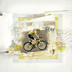 No guts no glory is a digital scrapbook page that I (Margje) made with:   eA Arrows No. 1   Abstract FotoBlendz No. 6   ArtPlay Palette Bicycle   Sports WordART No. 4   Travel Europe No. 1   All Anna Aspnes