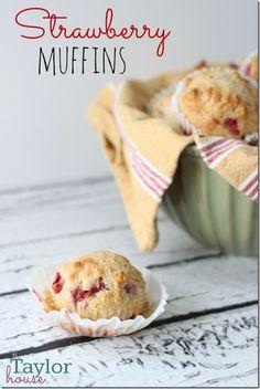Strawberry Muffins, Breakfast Recipe, Strawberry Recipes, making tomorrow Strawberry Muffin Recipes, Strawberry Muffins, Strawberry Butter, Breakfast Dishes, Breakfast Recipes, Dessert Recipes, Breakfast Healthy, Breakfast Cookies, Morning Breakfast