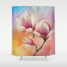 Buy Shower Curtains featuring Gentleness by Klara Acel. Made from 100% easy care polyester our designer shower curtains are printed in the USA and feature a 12 button-hole top for simple hanging.
