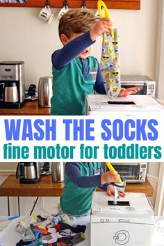 This fine motor activity for toddlers is ADORABLE! Allow toddlers to strengthen fine motor muscles through imaginary play. A winning combinatin for learning and growth! Toddler Fine Motor Activities, Activities For Boys, Motor Skills Activities, Indoor Activities, Infant Activities, Toddler Preschool, Fine Motor Skills, Learning Activities, Preschool Plans