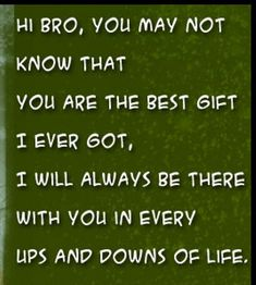 Best Brother Quotes 33 Best Brother qoutes images | Brother birthday quotes, I love my  Best Brother Quotes