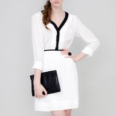 Serena Dress Ivory Black, $145, now featured on Fab.