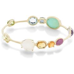 Ippolita 18K Rock Candy& Gelato Station Bangle in Summer Rainbow ($3,895) ❤ liked on Polyvore featuring jewelry, bracelets, summer rainbow, orange jewelry, hammered bangle bracelet, african bangles, rainbow jewelry and 18 karat gold jewelry