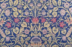 Violet and Columbine furnishing fabric, by William Morris. England, 1883