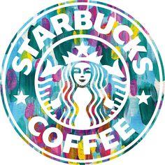 Painted Starbucks Logo by aterkaderk