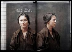 Alice Cooke at the Sydney Women's Reformatory, 1922. By the time she was 24 Alice Cooke had created an impressive number of aliases and at least two husbands, and was convicted of bigamy and theft .. #history #sydney #police #mugshot