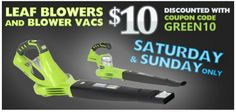 This weekend ONLY Saturday and Sunday special on for Greeworks...