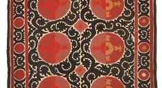 Image is from Circa Trade        From the Uzbek Shop  on eBay  The Samarkand suzani are my favorites--I love the bold red, black, and r...
