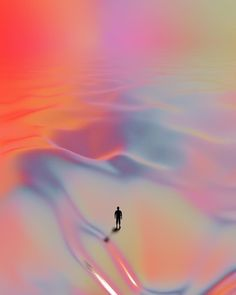 Always set yourself a goal, even if it seems out of reach. Artwork by Quentin Deronzier #artwork #3D #colors #colorful #explore #dunes #dese