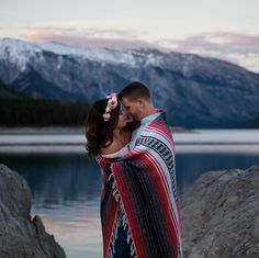This amazing couple! #banff #markderryphotography #mountains #engagement
