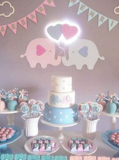 Gender Reveal Themes, Gender Reveal Party Decorations, Baby Gender Reveal Party, Gender Party, Baby Shower Fun, Baby Shower Cakes, Baby Shower Parties, Bebe Rexha, Cute Baby Announcements