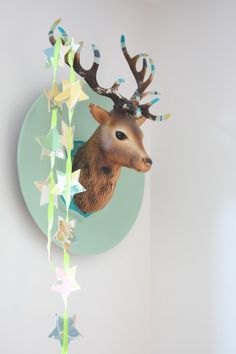 1000 id es sur le th me t te de cerf sur pinterest t tes for Decoration murale tete de cerf