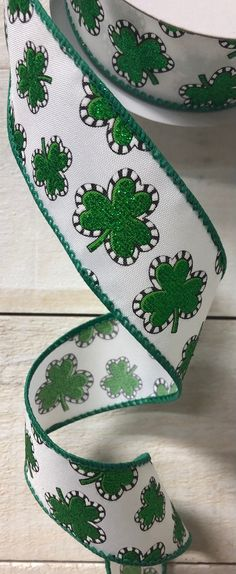 Excited to share this item from my #etsy shop: Green White Clover Ribbon, Green Glitter Clover Ribbon, 1.5 inch green glitter Clover Ribbon, St. Patty's Ribbon, St. Patricks Day ribbon #stpatricksday #green #hatmakinghaircrafts #waysidewhimsy #white Ann Wood, Green Glitter, White Ribbon, Hat Making, St Patricks Day, Grey And White, Pink Blue, Clovers, Bows
