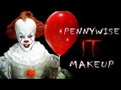 It 2017 - Pennywise Halloween Makeup Tutorial | V. °155 - YouTube