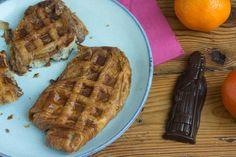 Boterkoek-wafel met chocolade van de Sint