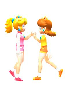 Princess Peach and Daisy by AsukaMinaj Super Mario Bros, Super Mario Brothers, Mario And Princess Peach, Princess Daisy, Mario Kart Characters, Princesa Peach, Mario And Luigi, Art Memes, Poses