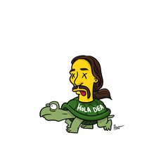 Tortuga from Breaking Bad Simpsonized by ADN - Simpsons Breaking Bad Cast, Breaking Bad Series, The Simpsons, Simpsons Funny, Simpsons Characters, Danny Trejo, Walter White, Janis Joplin, Catching Fire