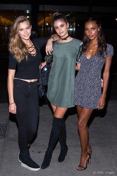 Josephine Skriver, Taylor Hill et Jasmine Tookes à la soirée d'anniversaire de Sara Sampaio