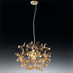Metal Lux Astro 3 Light Amber Pendant 205.140.06 | Buy Ceiling Lights Online from KES Lighting