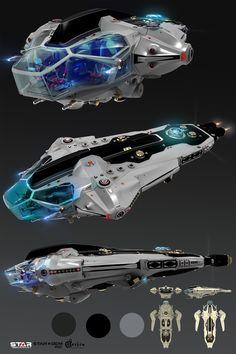 ArtStation - Star Conflict Spaceship, Oshanin Dmitriy