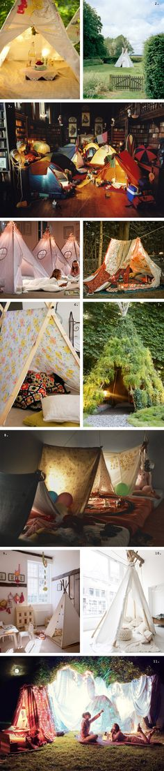Best fort roundup EVER (via Fox in the Pine) ~ Addie already has a tent for when she grows up a bit . Kids Tents, Big Family, Tent Camping, Family Camping, Sleepover, Big Kids, Summer Fun, Kids Room, Crafts For Kids