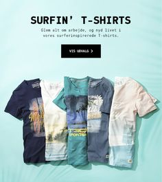 Jack & Jones SS15 tees with surf inspired prints