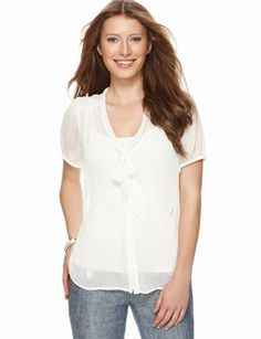 The Limited - Daisy-Embellished Sheer Bow Blouse #TheLimitedShirtEvent #TheLimitedNewShirtEvent