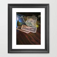 Green Paper Framed Art Print by Lisa De Rosa-Essence of Life Photography - $34.00